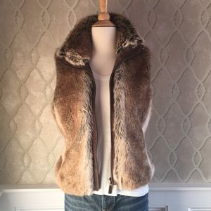 Esprit Fur Vest size Medium